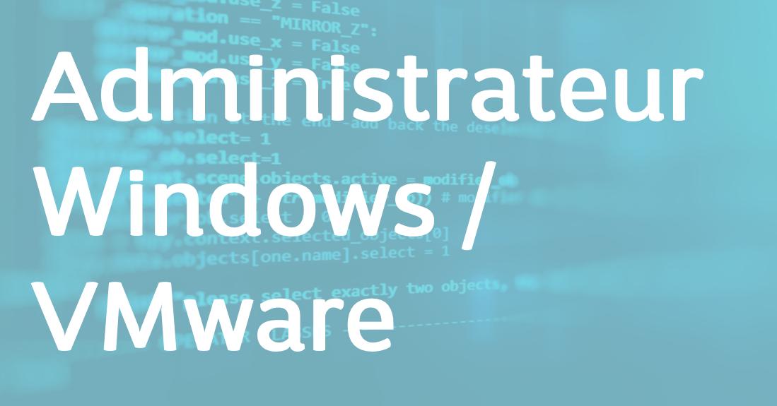 Administrateur Windows / VMware – FR/EN