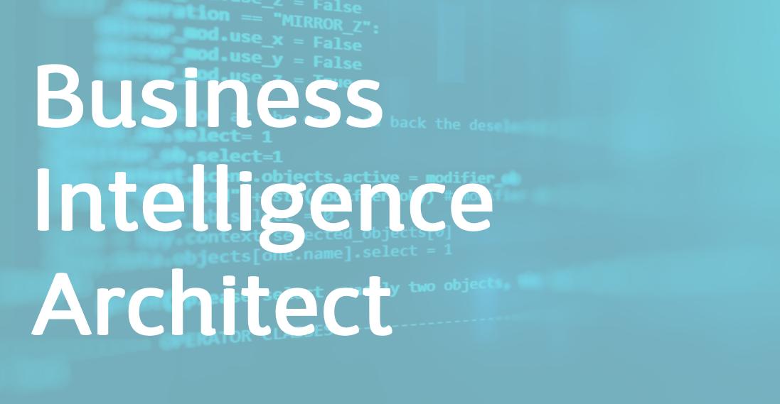 Business Intelligence Architect – EN