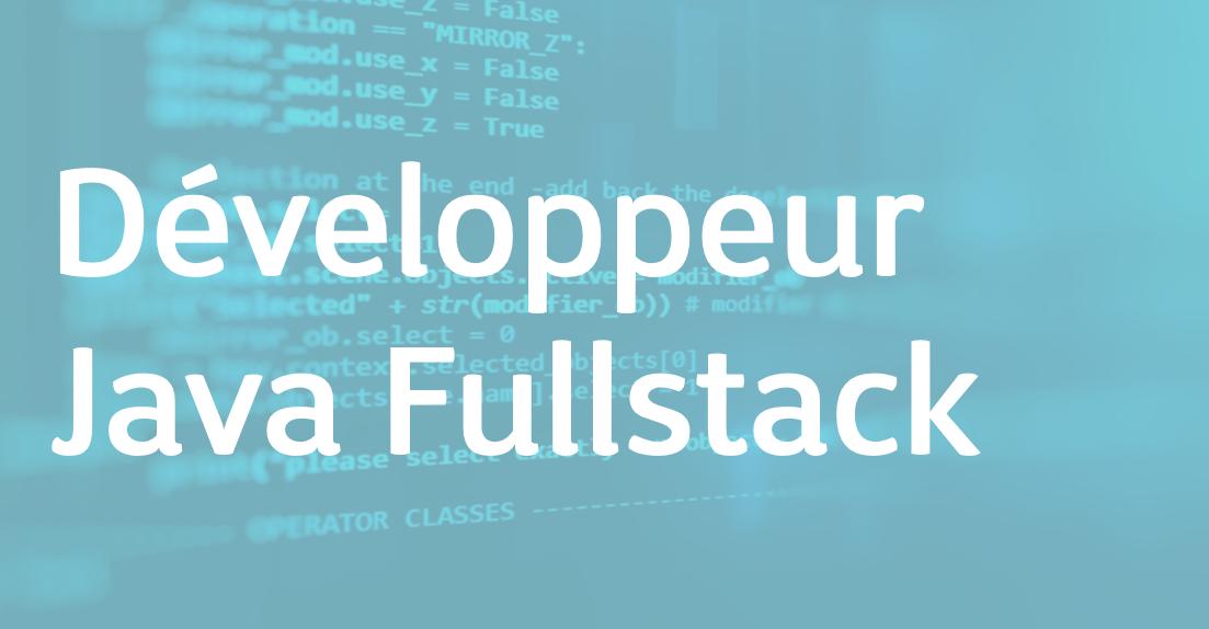 Développeur Java Fullstack – FR/EN