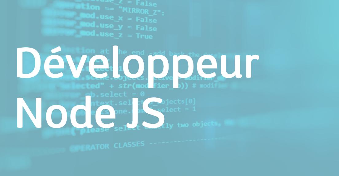 Développeur Node JS – FR/EN