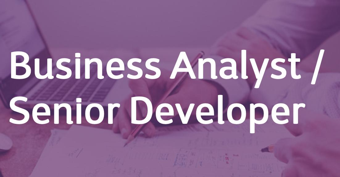 Business Analyst / Senior Developer – FR/EN
