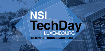 NSI Techday - 3 octobre 2019 - Luxembourg