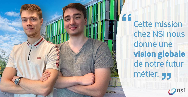Nathan & Pierre, en mission pour 3 mois chez NSI Luxembourg