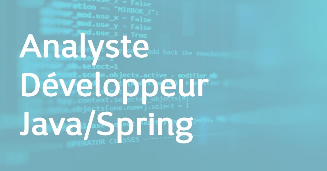 Analyste Développeur Java/Spring – FR/EN