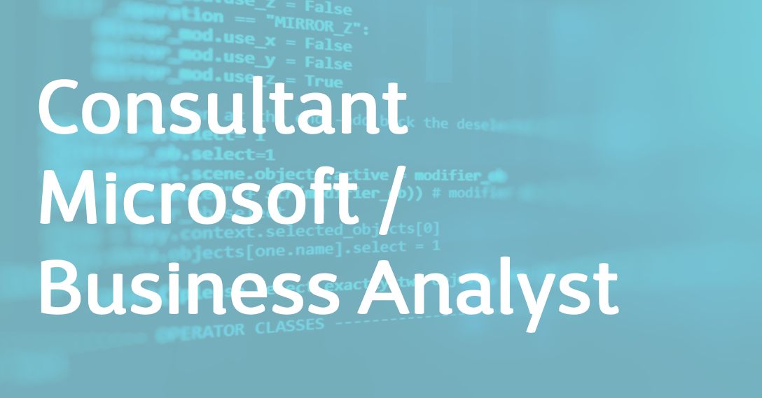 Consultant Microsoft / Business Analyst