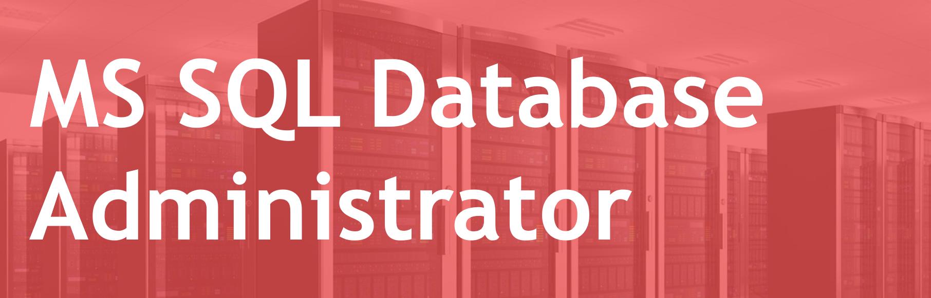 MS SQL Database Administrator – FR/EN