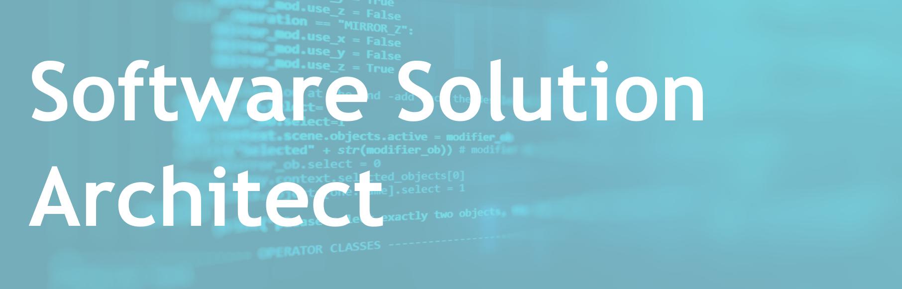 Software Solution Architect – FR/EN