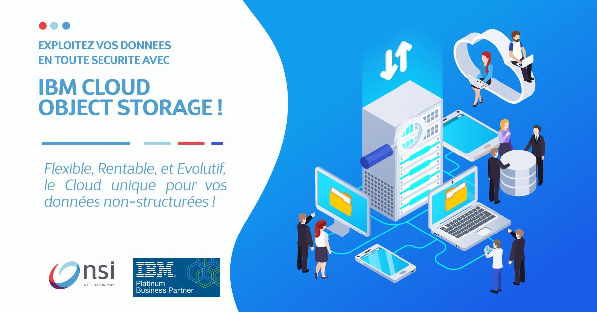 Exploitez vos données en toute sécurité avec IBM Cloud Object Storage.